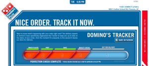 Domino's pizza order tracking